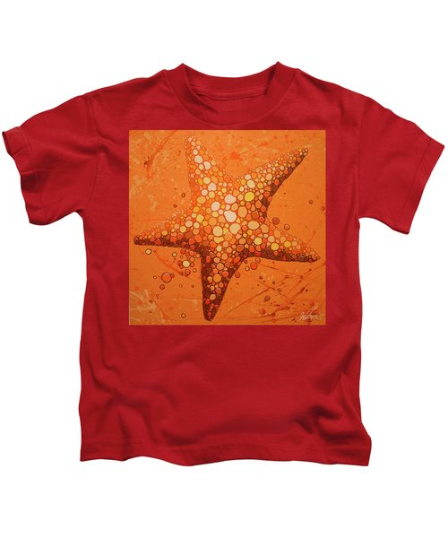 Starfish In Coral Kids T-Shirt