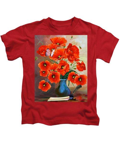 Still Life Poppies Kids T-Shirt