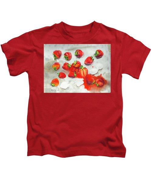 Strawberries On Paper Towel Kids T-Shirt