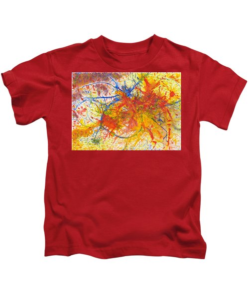 Summer Branches Alfame With Flower Acrylic/water Kids T-Shirt