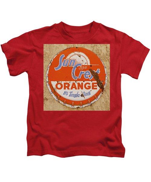 Suncrest Orange Soda Cap Sign Kids T-Shirt
