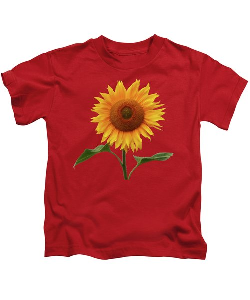 Sunflower And Red Sunset Kids T-Shirt
