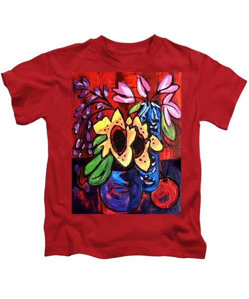 Sunflowers And Tulips Kids T-Shirt