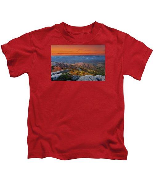 Sunrise On Rough Ridge  Kids T-Shirt