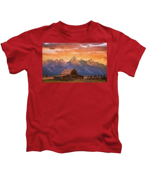 Sunrise On The Ranch Kids T-Shirt