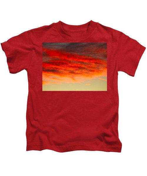 Sunset At Eaton Rapids 4826 Kids T-Shirt