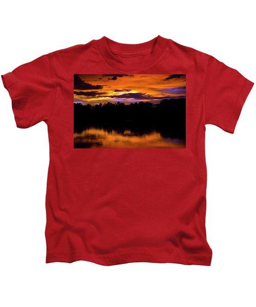 Sunset Rain Kids T-Shirt