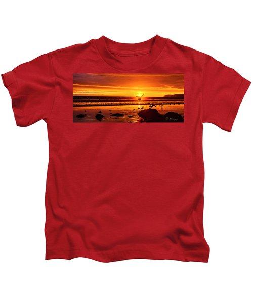 Sunset Surprise Pano Kids T-Shirt