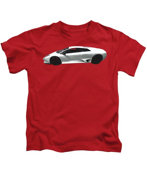 Supercar In White Art Kids T-Shirt