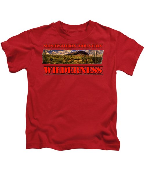 Superstition Mountain And Wilderness Kids T-Shirt