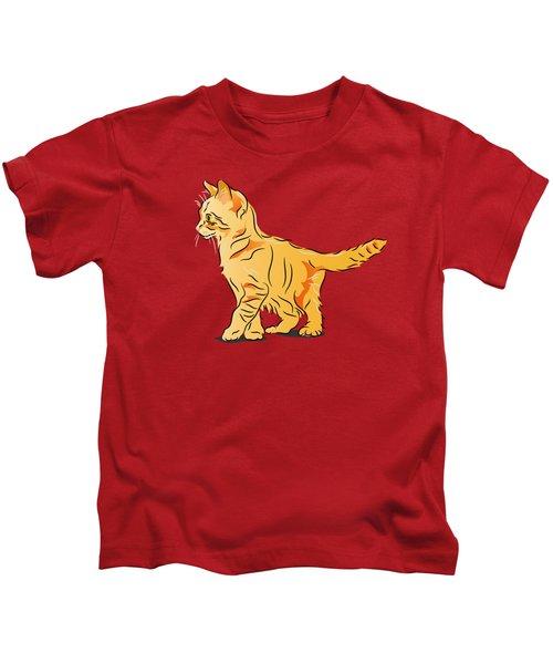 Tabby Kitten Kids T-Shirt
