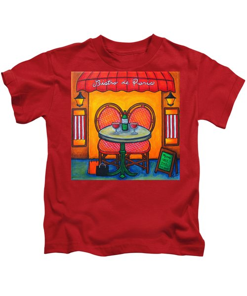 Table For Two In Paris Kids T-Shirt