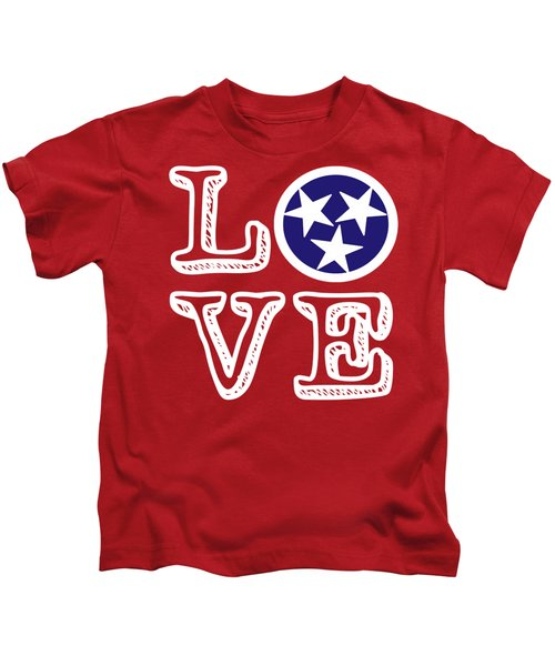 Tennessee Flag Love Kids T-Shirt