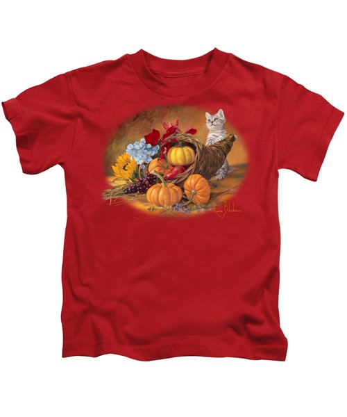 Thankful Kids T-Shirt by Lucie Bilodeau