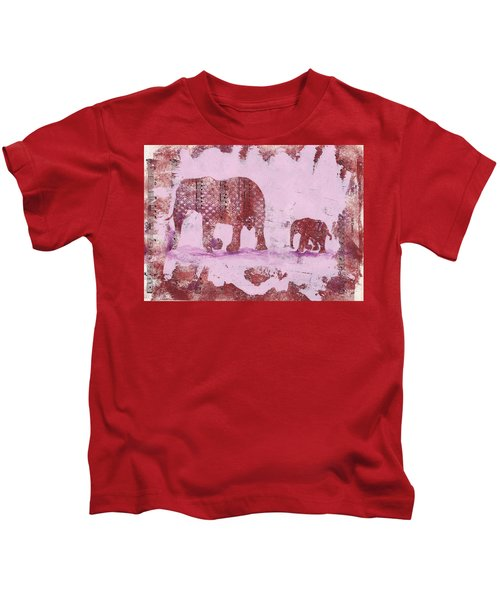 The Elephant March Kids T-Shirt