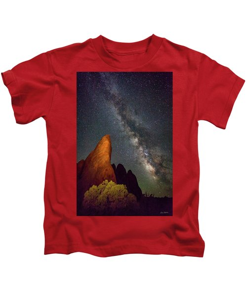The Fins At Sand Dune Arch Kids T-Shirt