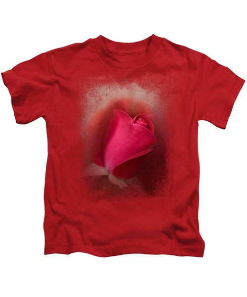 The First Red Rose Kids T-Shirt by Jai Johnson