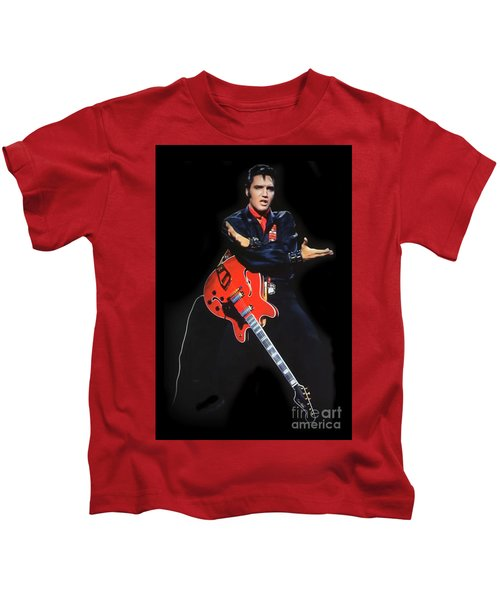 The King Rocks On Xliv Kids T-Shirt