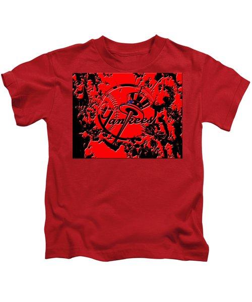The New York Yankees B1 Kids T-Shirt by Brian Reaves