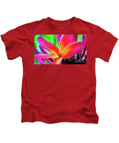 The Plumeria Flower Kids T-Shirt