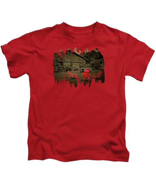 The Red Chairs In Neskowin Kids T-Shirt