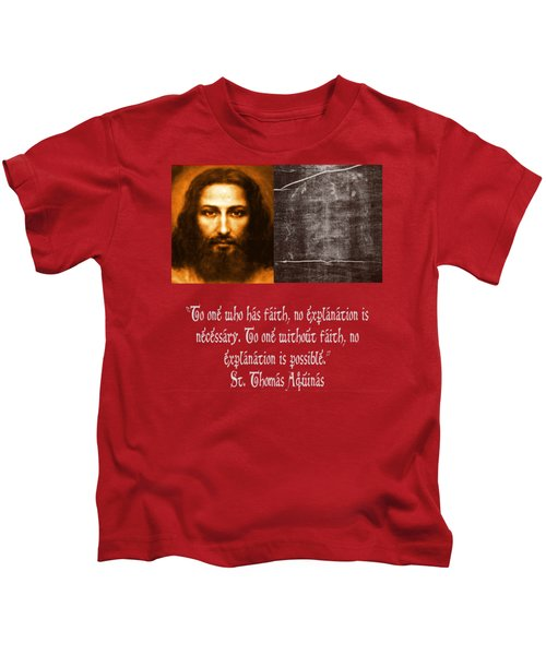 The Shroud Of Turing And Picture Of Jesus Kids T-Shirt