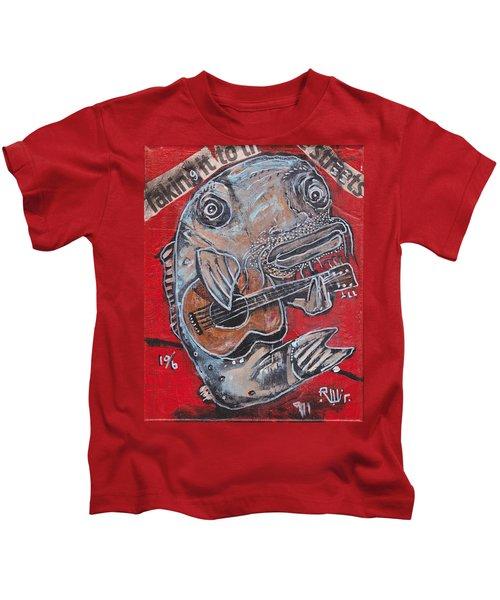 Blues Cat Kids T-Shirt