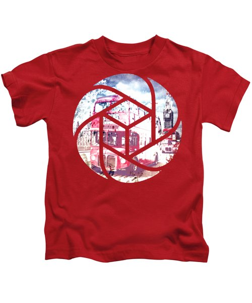 Trendy Design London Red Buses  Kids T-Shirt by Melanie Viola