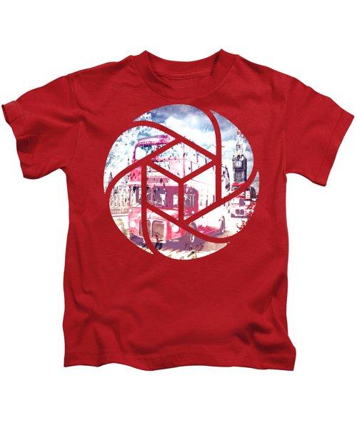 Trendy Design London Red Buses  Kids T-Shirt