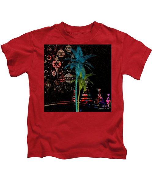 Tropical Holiday Red Kids T-Shirt