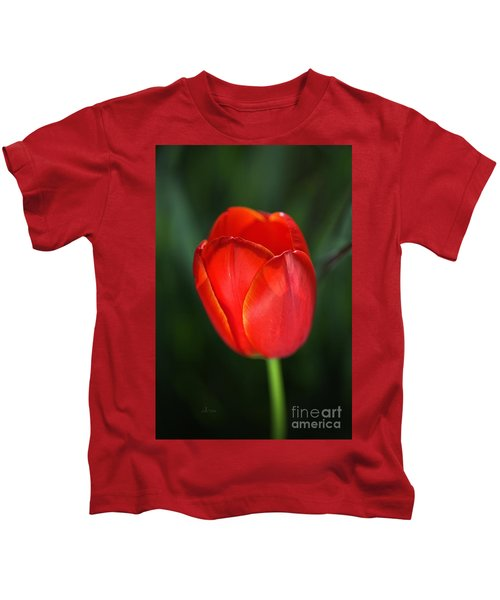Tulip Red With A Hint Of Yellow Kids T-Shirt