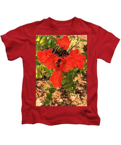 Tulip Tree Flowers Kids T-Shirt
