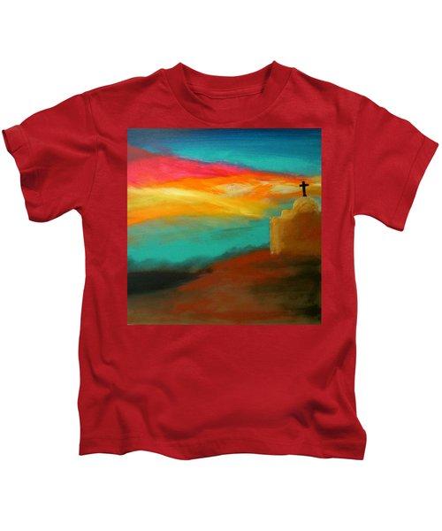 Turquoise Trail Sunset Kids T-Shirt