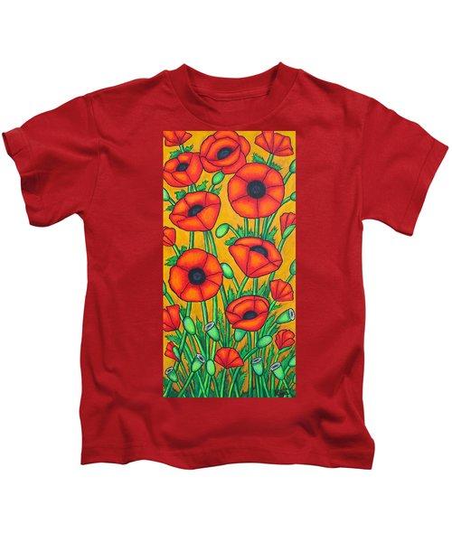 Tuscan Poppies Kids T-Shirt