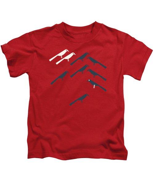 Two White Starlings Kids T-Shirt