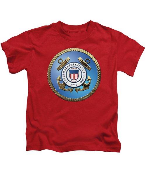 U. S. Coast Guard - U S C G Emblem Kids T-Shirt