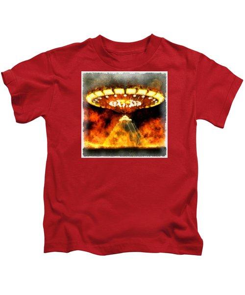 Ufo Mayans Kids T-Shirt
