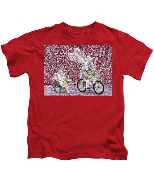 Unicorn And Doggie Fairies Kids T-Shirt