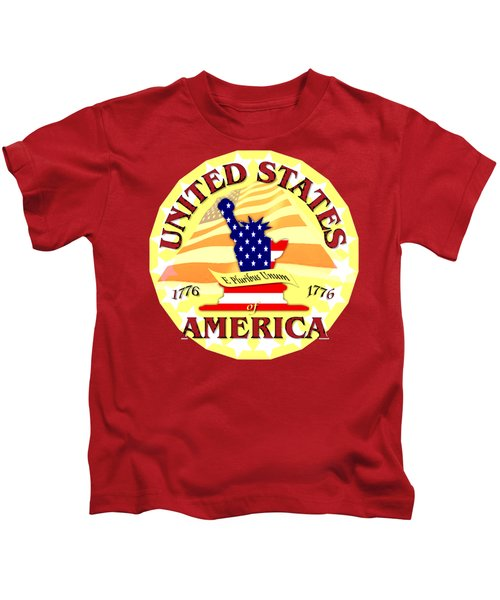 United States Of America Design Kids T-Shirt