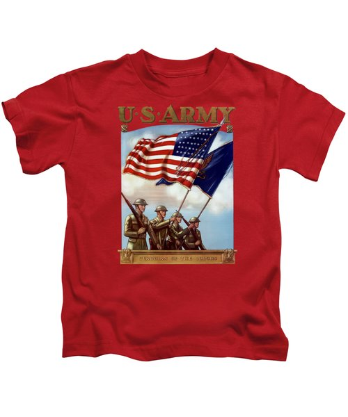 Us Army -- Guardian Of The Colors Kids T-Shirt