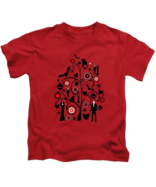 Vampire Art Kids T-Shirt by Anastasiya Malakhova