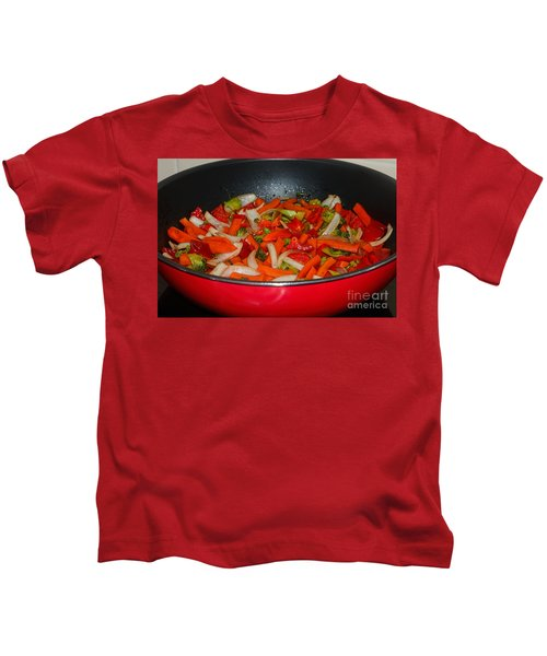 Vegetable Stir Fry By Kaye Menner Kids T-Shirt by Kaye Menner