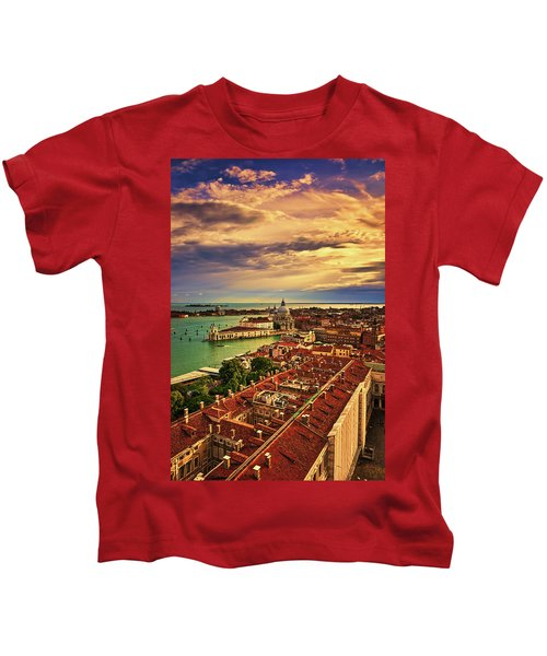 From The Bell Tower In Venice, Italy Kids T-Shirt