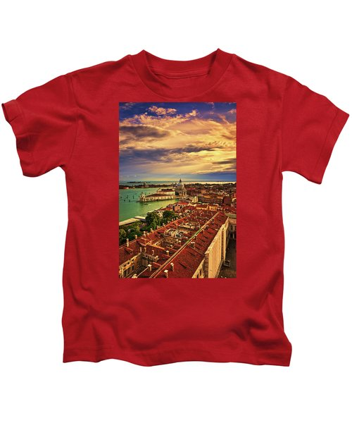 Venice From The Bell Tower Kids T-Shirt