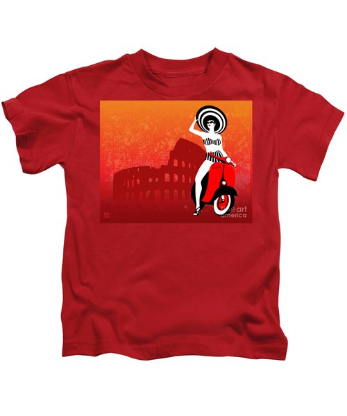 Vespa Girl Kids T-Shirt