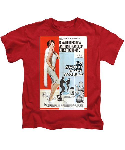 Vintage Classic Movie Posters, Go Naked In The World Kids T-Shirt