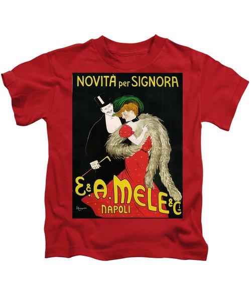 Vintage Poster - Novita Per Signora Kids T-Shirt