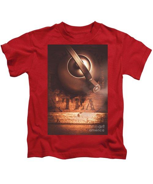 Vintage Tea Break Kids T-Shirt