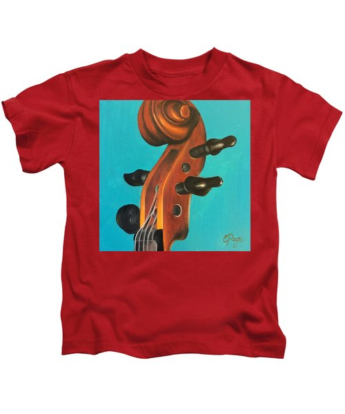 Violin Head Kids T-Shirt