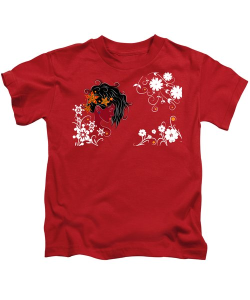Volimius V1 - Beauty With Flowers Kids T-Shirt